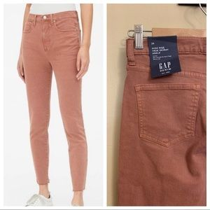 New gap high rise true skinny ankle jeans